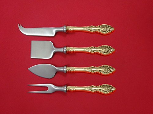 - Grand Victorian by Wallace Sterling Cheese Serving Set 4 Piece HHWS Custom