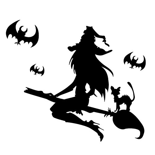 Peoria Halloween Pumpkins Spooky Cemetery Witch Wall Decals, Decal Wall Sticker Murals Wallpaper Poster for Kids Rooms Nursery Halloween Party (Halloween Witch Quotes)
