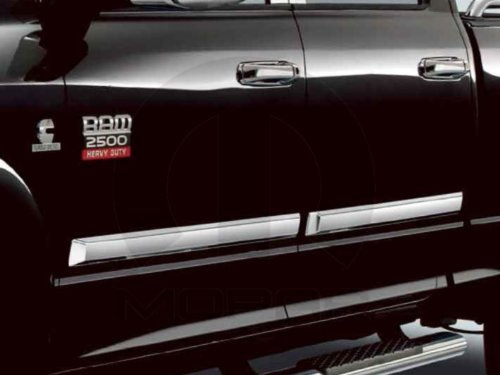Body Ram - Dodge Ram 1500 2500 3500 4500 5500 Crew Mega Chrome Body Side Molding OEM Mopar