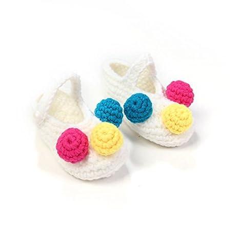 skuleer (TM) dulce rosa flores recién nacido para tejer patucos ...