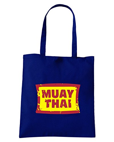 T-Shirtshock - Bolsa para la compra TBOXE0056 Muay Thai Azul Marino