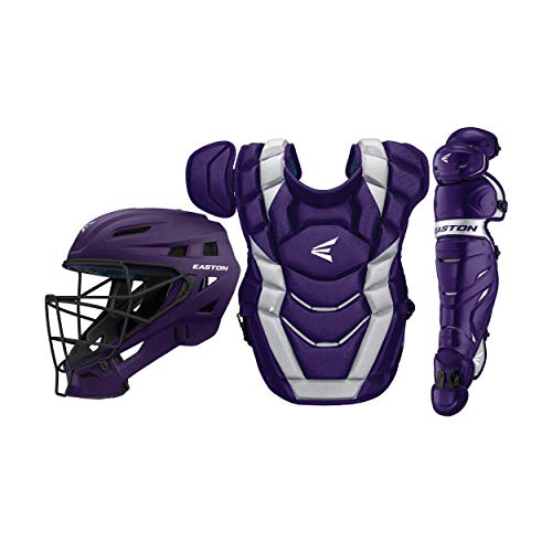 Easton Elite x Custom Catcher Box Set Elite-x Custom Catchers Set PU/SI, Purple/silver, Youth