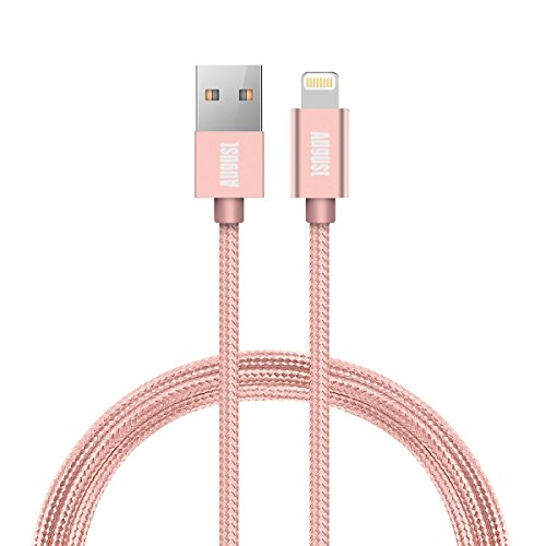 Ipod Add (Pink USB Lightning Cable for Apple - Apple MFi Certified Charger Cord Nylon Braided for All iPhone Edition - (3.3 Feet))
