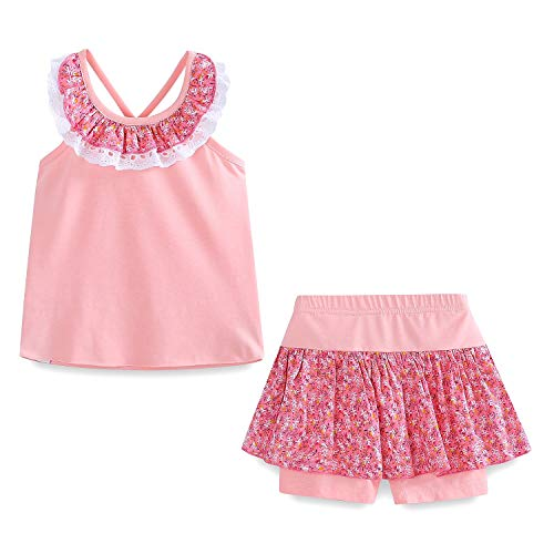 Mud Kingdom Cute Girl Clothes 4T Pink Summer - Cute 4t Girl Clothes