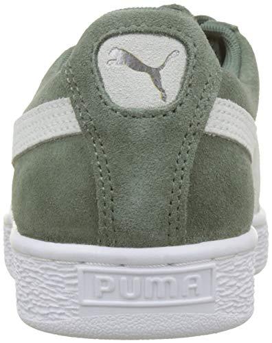 White puma Donna Basse Classic Wreath Wn's Puma da Laurel Scarpe Suede 76 Grigio Ginnastica HqC17f4