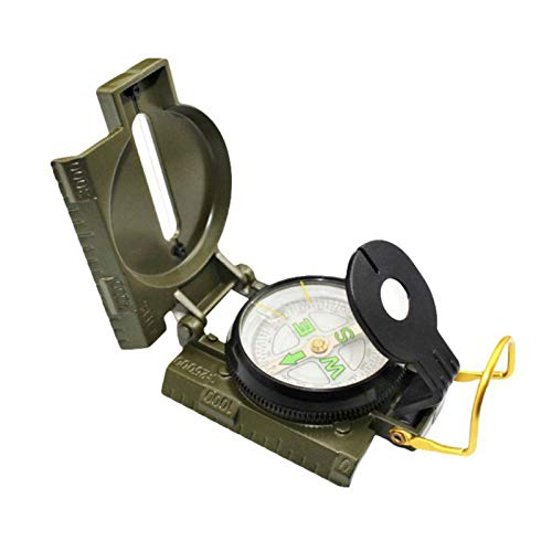 TT-OUTDO 1Pc Portable Folding Compasses Military Multifunction Mini Camping Climbing Outdoor Metal Compasses New