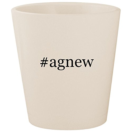 - #agnew - White Hashtag Ceramic 1.5oz Shot Glass
