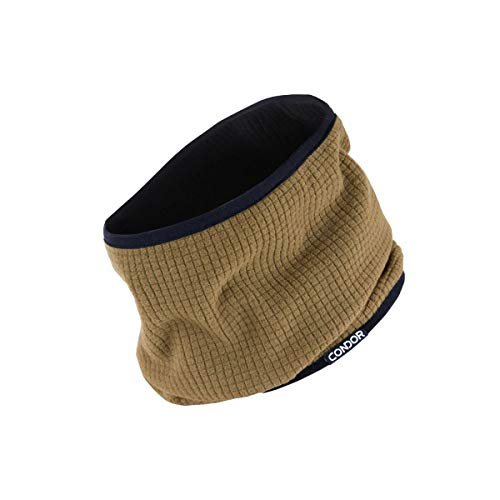 Condor Reversible Neck Gaiter, BROWN/ BLACK, Neck Cover Warmer, Fleece Face Mask