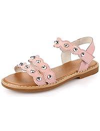 Pointss Girls' La Simple Design Summer Sandals Lovely Strappy Sandals Soft Beach Shoes Magic Stick Leisure Sandals