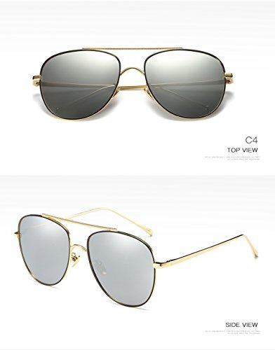 Protección para Aviator De C4 Sol Gafas Polarizadas 400 Mujer C4 para Hombre UV H8AqxnT