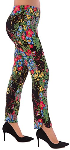 UP Womens Slim Ankle Pants Flatten and Flatter Style 35453 Amazon Print Size 8 Color Black by UP! Pants