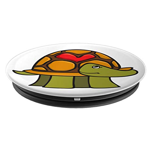 Amazon.com: Turtle with a Heart in its Shell - PopSockets ...