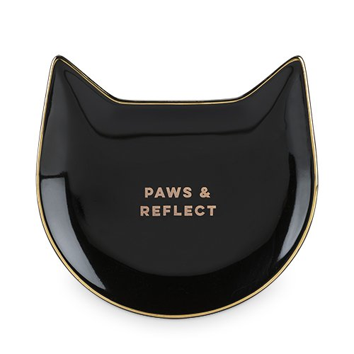 Pinky Up 5497 Paws & Reflect Cat Tea Tray, Black by Pinky Up