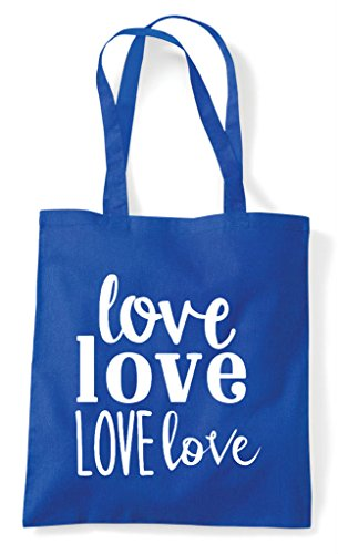 Tote Royal Love Blue Bag Statement Shopper gwpnrgPW0