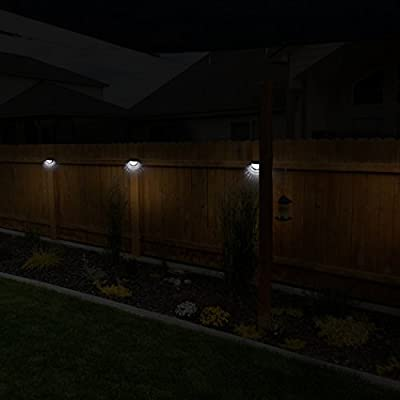 OTHWAY Solar Fence Post Lights Wall Mount Decorative Deck Lighting
