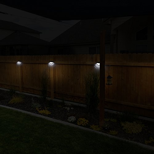 Othway Solar Fence Post Lights Wall Mount Decorative Deck Lighting Black 4 Packs Buy Online