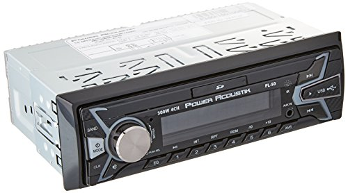 Power Acoustik PL-50 Single-Din in-Dash Digital Audio Receiver (Without Bluetooth, Fixed Face)