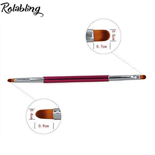 Rolabling 1pc Double Heads Nail Brush For Gel Nail Polish Pa