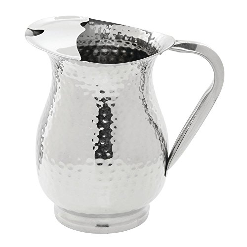 Hubert Stainless Steel Water Pitcher with Ice Guard 48 Ounce