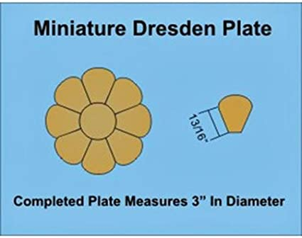 "Paper Pieces Miniature Dresden Plate Paper Templates for 4/"" Block Set of 3"