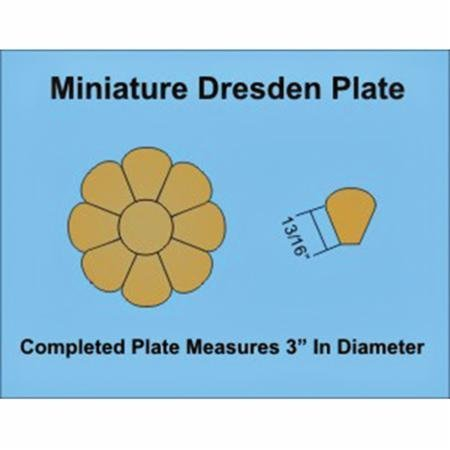Paper Pieces Miniature Dresden Plate Paper Templates for 4