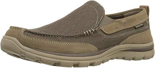 Skechers Men's Superior Milford Slip-On Loafer, Light Brown, 9 M US
