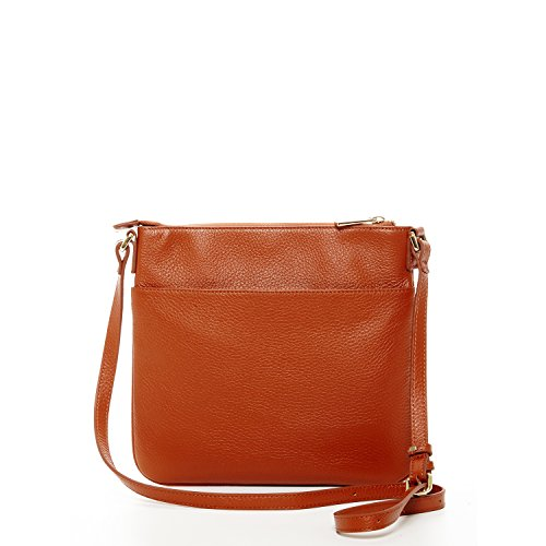 Crossbody Body Women Saxon SUSU Cross Over Brown Messenger Bags For Handbag Bag Cross The Leather Purse wtqqRS