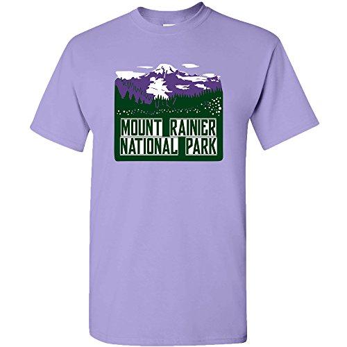 Mount Rainier National Park Postcard - Washington Outdoor Summer Vacation T Shirt - 2X-Large - Violet