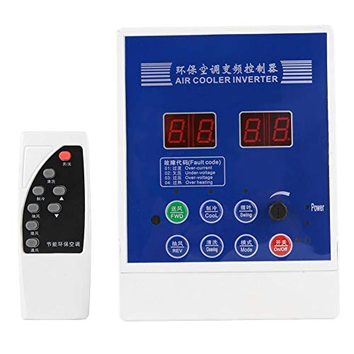 VFD Inverter Single to 3 Phase,AC 380V VFD,with Remote Control Variable Frequency Drive,for Air Cooler (1.5KW)