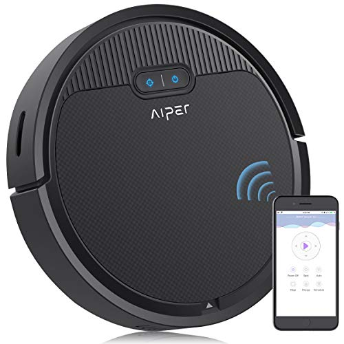 Aiper Robot Vacuum Cleaner, 1500Pa Strong Suction, Quiet, APP Control, Automatic Self-Charging Robotic Vacuum, Good for Pet Hair, Thin Carpet, Hard Floors