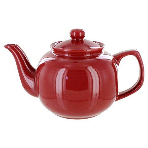 English Tea Store Brand 6 Cup Teapot - Burgundy Gloss Finish