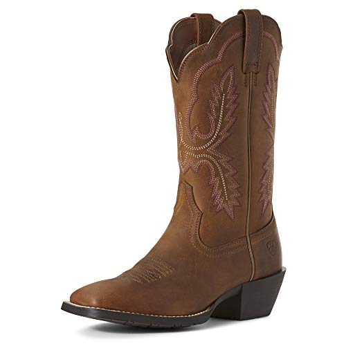 ARIAT Women's Hybrid Rancher Crossfire Western Boot Distressed Brown Size 7 M Us
