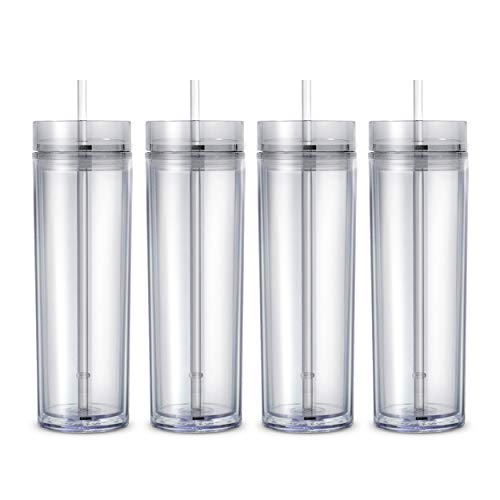 (Maars Classic Insulated Skinny Tumblers 16 oz. | Double Wall Acrylic | Clear - 4)