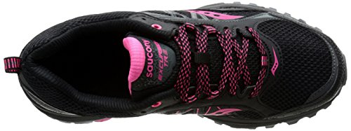Saucony Womens Grid Excursion TR9 Trail Running Shoe Negro/Rosado