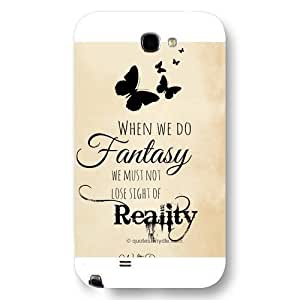 UniqueBox Customized Disney Series Phone Case for Samsung Galaxy Note 2, Walt Disney Quotes Samsung Galaxy Note 2 Case, Only Fit for Samsung Galaxy Note 2 (White Frosted Shell)