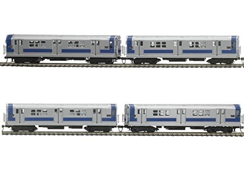 Blue Mth Trains - MTH Electric Trains MTH MTH8023461 HO R-17 Subway w/PS3,MTA/South Exp/Blue/Silver (4)