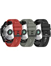 ANCOOL Compatible with Fenix 5/Fenix 5 Plus/Forerunner 935/Approach S60/Quatix 5 Band,Easy Fit 22mm Width Soft Silicone Watch Bands Strap for Garmin Fenix 5 Smartwatch