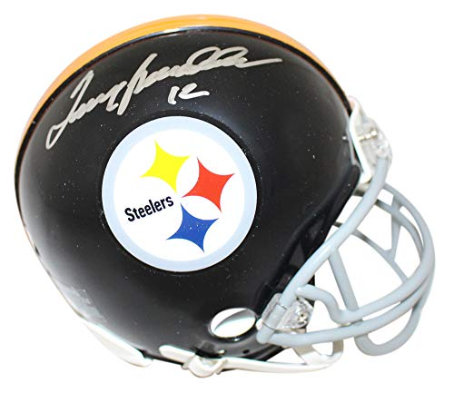 Terry Bradshaw Autographed Pittsburgh Steelers TB Mini Helmet JSA