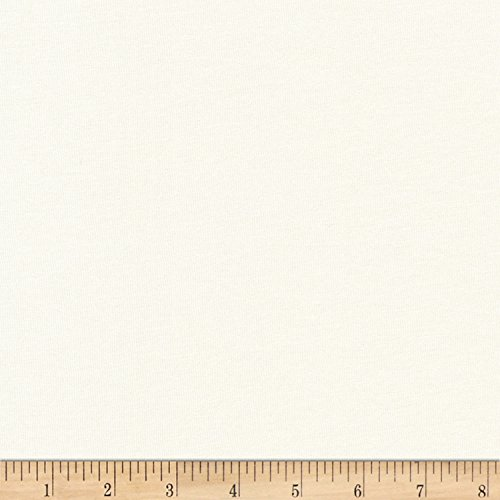 Robert Kaufman Panda - Robert Kaufman Kaufman Panda Blend Jersey Knit 4.0 Oz Ivory Fabric by The Yard,