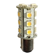 Anyray (2-Pack) 1157 BAY15D Dual Contact (Ultra White) LED Replacement for 40 41 42 50 Light Bulbs 18 SMD 5050 12V