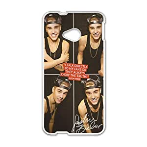 Happy Justin Bieber's Smile Cell Phone Case for HTC One M7