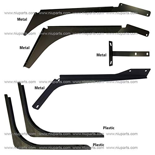 6 Piece Set of Top and Bottom Cabin Fairing Mounting Brackets - Passenger Side (FIt: Volvo VNL ()