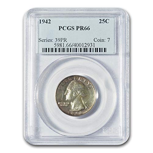 1942 Washington Quarter PR-66 PCGS Quarter PR-66 PCGS