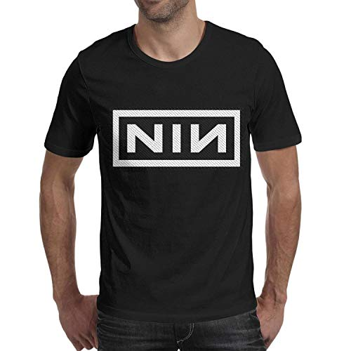 AFAWNKJN1 Young Men Short Sleeve t-Shirts tee for Nine-Inch-Nails-Logo- Customized Designer Art T-Shirts
