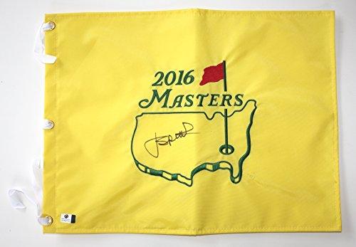 Jordan Spieth Signed Autographed 2016 Masters Golf Pin Flag COA