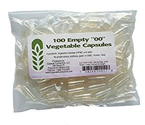 Capsule Connection 100 Bulk Empty Vegetable Capsules '00' Size