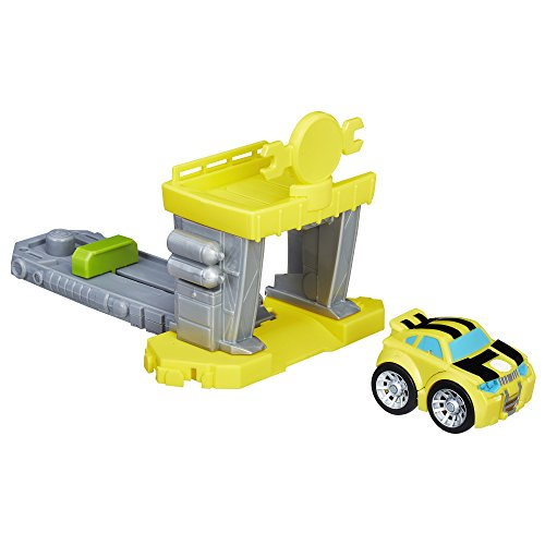 [해외] PLAYSKOOL HEROES TRANSFORMERS RESCUE BOTS FLIP RACERS BUMBLEBEE QUICK LAUNCH GARAGE
