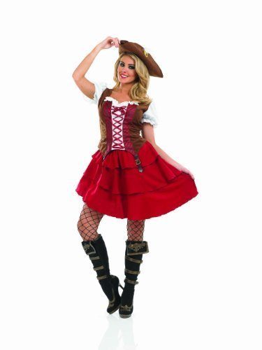 Fun Shack Adult Deck Hand Pirate Girl Costume - XX-LARGE by Fun ()