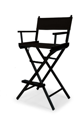 Telescope Casual Heritage Bar Height Director Chair, Black with Black Frame by Telescope Casual