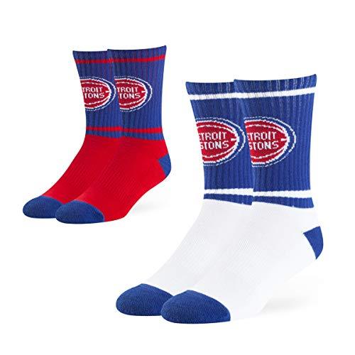 - OTS NBA Detroit Pistons Male Dasher Sport Socks 2 Pack, Team Color, Large